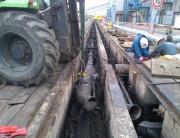 Limpieza de rack de tuberías de fuel